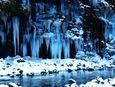 氷の芸術「三十槌の氷柱」